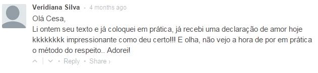 Depoimentos reais - Veridiana Silva